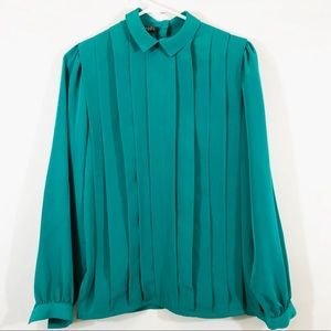 NORDSTROM POV PLEATED BLOUSE - SZ 6